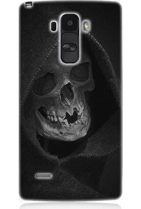 Teknomeg LG G4 Stylus Ölüm Meleği Desenli Tasarım Silikon Kılıf