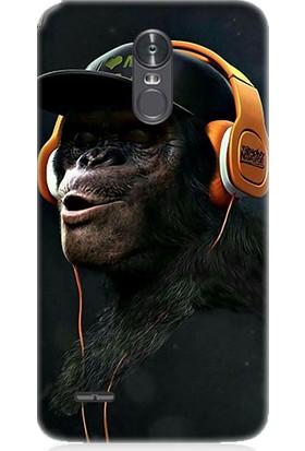 Teknomeg LG Stylus 3 Hiphop Maymun Desenli Tasarım Silikon Kılıf