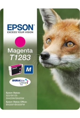 Epson T1283 Mor Kartuş Stylus Bx305F-Sx125-Sx425-S22
