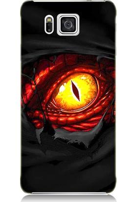 Teknomeg Samsung Galaxy Alpha Ejderha Gözü Desenli Tasarım Silikon Kılıf