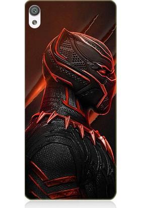 Teknomeg Sony Xperia X Black Panther Desenli Tasarım Silikon Kılıf