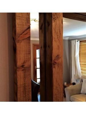 Ağaç Atölyesi - Ceviz Rengi Ahşap Ayna 75 cm (Aynasız)
