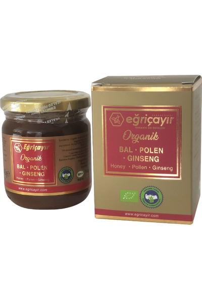 Eğriçayır Organik Bal Polen Ginseng Karışımı 240 Gr