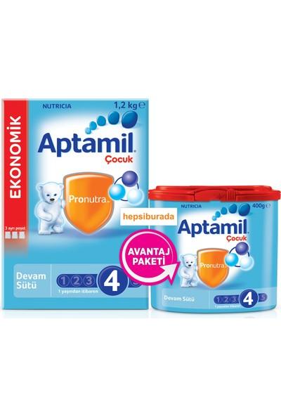 Aptamil 4 Çocuk Devam Sütü 1600 gr (1200 gr + 400 gr)