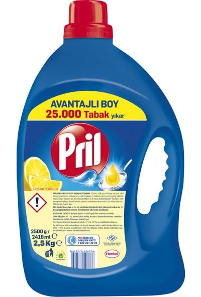 Pril Sıvı Bulaşık Deterjanı Limon 3 'lü Güç 2,5 kg