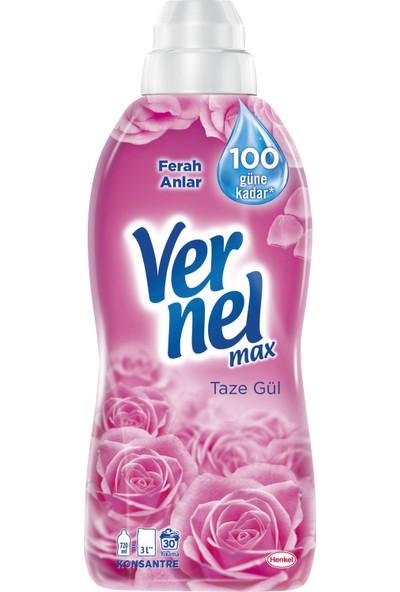 Vernel Max Konsantre Çamaşır Yumuşatıcısı Taze Gül 720 ml 30 Yıkama