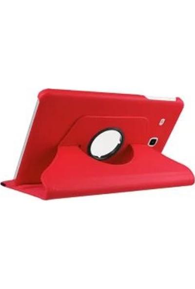 Redpoloshop Samsung Galaxy Tab E 9.6 T560 T561 T562 Kılıf 360 Dönerli Kırmızı