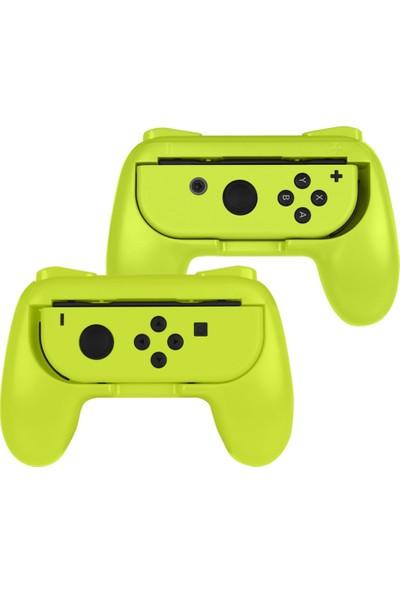 Oi̇vo Nintendo Switch Joycon Grip 2li Sarı Paket Joy-con