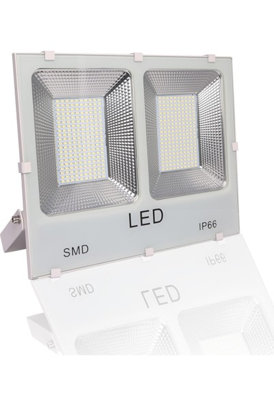 Impac Smd Led Projektör 200W 200 Watt Beyaz Işık Beyaz Kasa