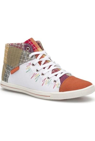 Pedro Camino Weekend Bayan Günlük Ayakkabı 923430 Beyaz-Oranj