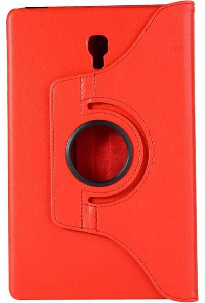 Redpoloshop Samsung Galaxy Tab S4 10,5 T830 Kılıf 360 Dönerli Standlı Kırmızı Tempered Cam Koruyucu Dahil
