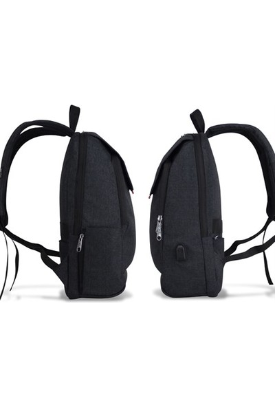My Valice Smart Bag Busıness Usb Şarj Girişli Akıllı Notebook Sırt Çantası Siyah