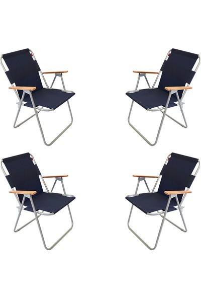 Bofigo 4 Adet Katlanır Sandalye Kamp Sandalyesi Balkon Sandalyesi Katlanabilir Piknik Ve Bahçe Sandalyesi Lacivert