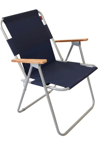 Bofigo Katlanır Sandalye Kamp Sandalyesi Balkon Sandalyesi Katlanabilir Piknik Ve Bahçe Sandalyesi Lacivert