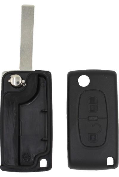 Esan Peugeot 2 Butonlu Anahtar Kabı Kumanda Kabı