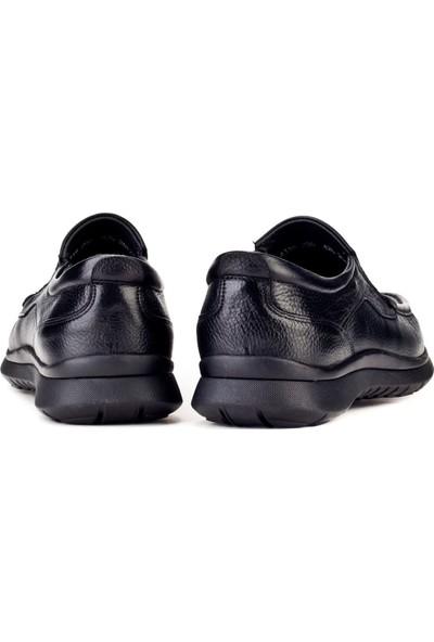 Cabani Günlük Erkek Ayakkabı Siyah Naturel Floter Deri
