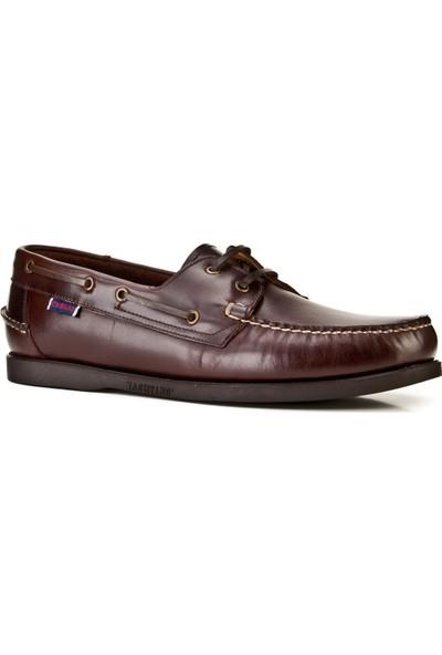 Cabani Marin Tekne (Boat Shoes) Günlük Erkek Ayakkabı Kahve Flap Deri