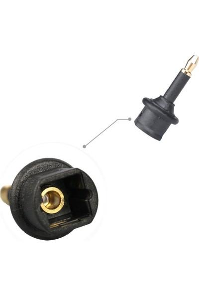 Alfais 4430 Toslink to Mini Toslink Adaptör Çevirici Dönüştürücü Optik 3.5mm Dişi Erkek Kablo Ses Dijital