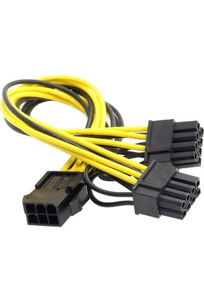 Alfais 4302 Pci e 8 Pin (6+2) 2X Pci-e Ekran Kartı Power Çoklayıcı Kablosu