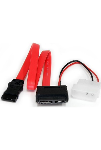 Alfais 4660 Sata 7 + 6 Pin Soket Slim Data Power Disk HDD Kablosu