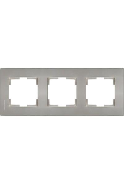 Mutlusan Üçlü Çerçeve Rita Metalik Titanyum 2220 800 1383
