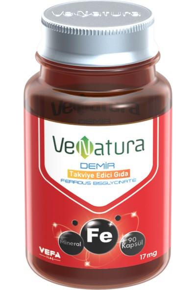 Venatura Demir Bisglycinate 17 Mg 90 Kapsül