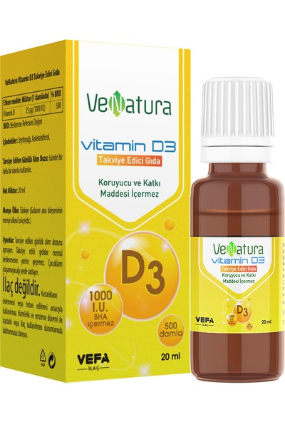 Venatura Vitamin D3 Damla 20 Ml