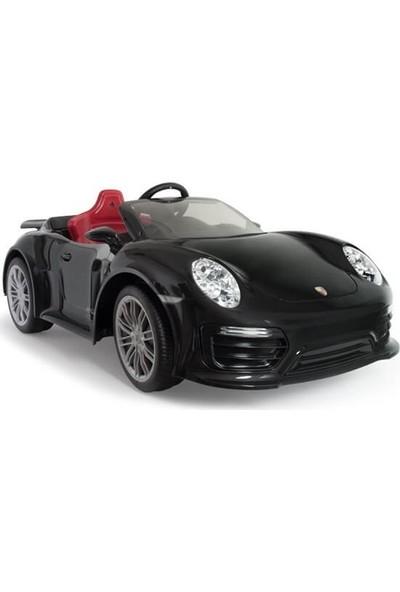 Injusa Porsche 911 Turbo Akülü Araba Siyah