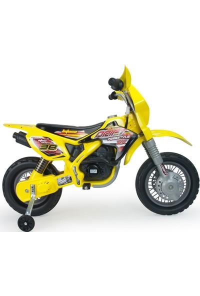 Injusa Moto Cross Drift Akülü Motor Sarı
