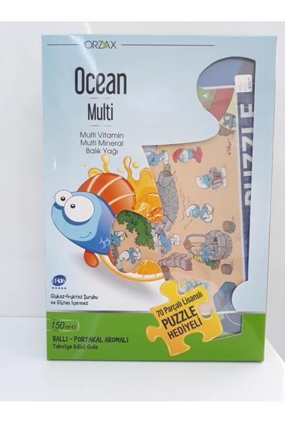 Orzax Ocean Multi Vitamin Mineral Balık Yağı 150 ml Ballı Portakallı Puzzel