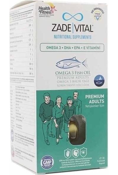 Zade Vital Omega 3 Fish Oil 50 Kapsül Premium Adults