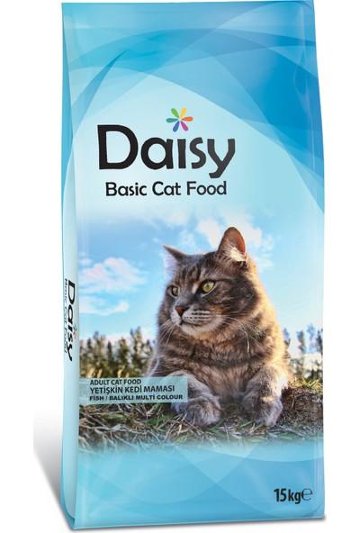 Daisy Basic Balıklı Renkli Taneli Yetişkin Kedi Maması 15 kg