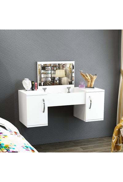 Arnetti Mercan Makyaj Masası- Beyaz