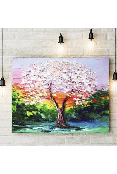 Decobritish Ağaç Ve Kış Kanvas Tablo