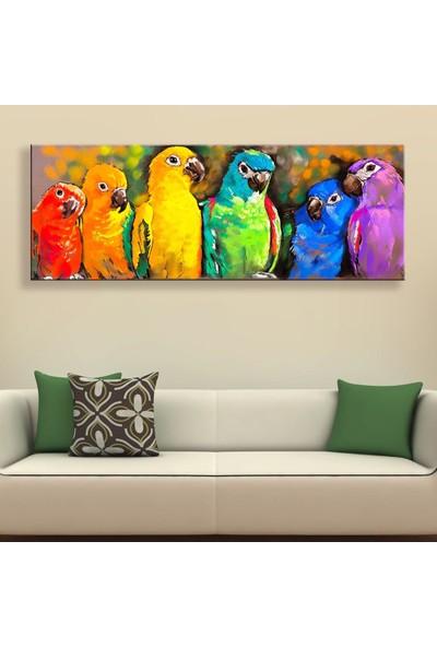 Decobritish Arte Papağanlar Kanvas Tablo