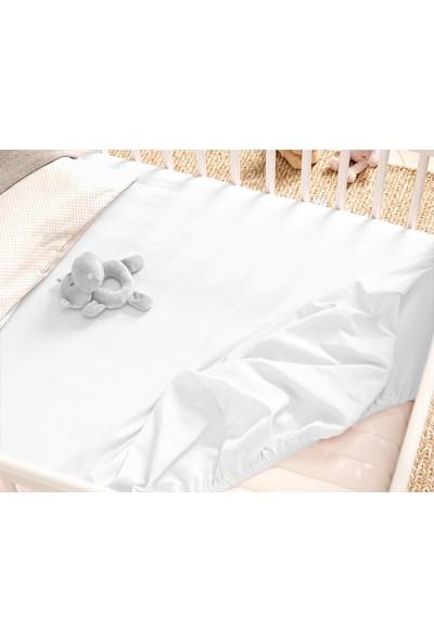 Babyjem Lastikli Bebek Çarşafı Beyaz