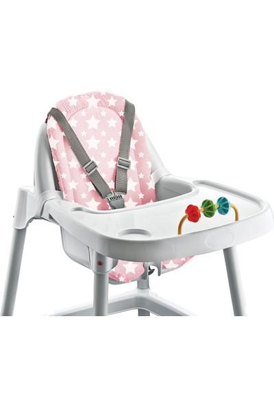 Babyjem Mama Sandalyesi Minderi Pembe Yıldız