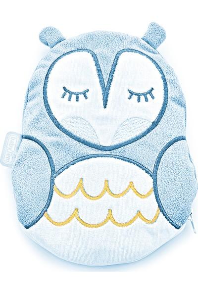 Babyjem Kiraz Çekirdkli Kurbğa Yastk Mavi Baykuş