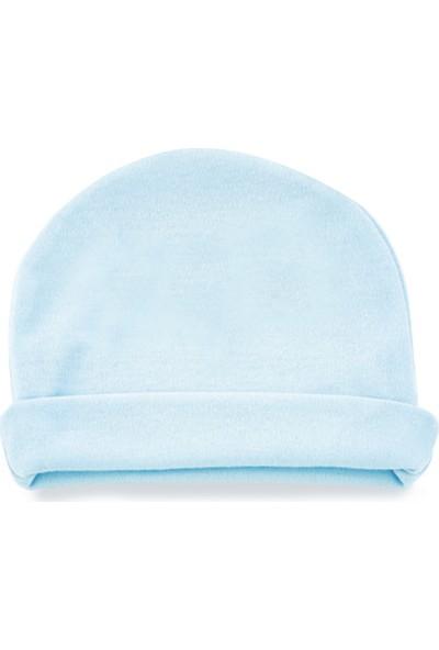 Babyjem Yenidoğan Bebe Şapka Mavi