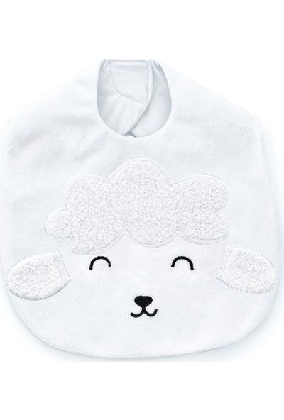 Babyjem Kuzu Mama Önlüğü Beyaz