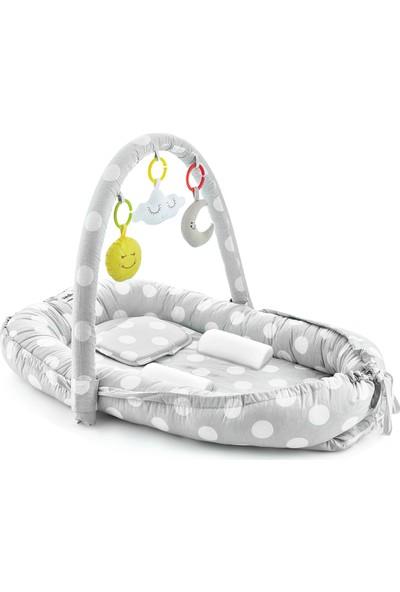 Babyjem Oyuncaklı Anne Baba Yanı Yatağı Gri