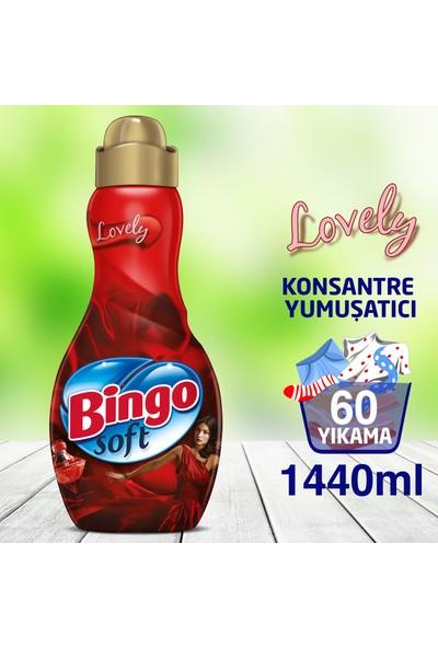 Bingo Soft Konsantre Çamaşır Yumuşatıcısı Lovely 1440 ml