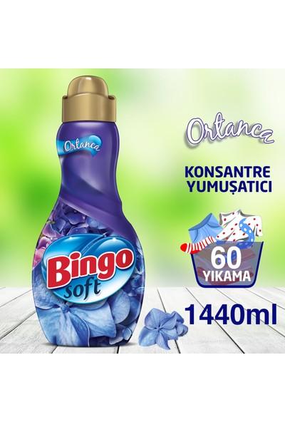 Bingo Soft Konsantre Çamaşır Yumuşatıcısı Ortanca 1440 ml