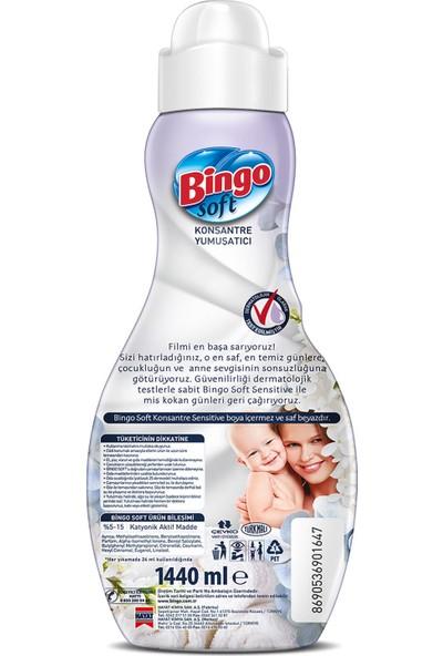 Bingo Soft Konsantre Çamaşır Yumuşatıcısı Sensitive 1440 ml