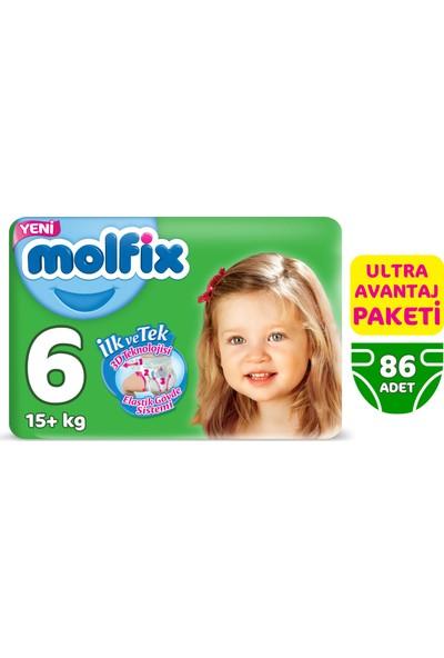 Molfix Bebek Bezi 6 Beden Ekstra Large Ultra Avantaj Paketi 86 Adet