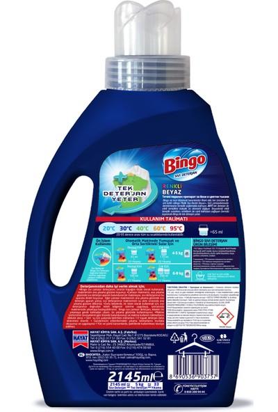 Bingo Matik Sıvı Performans Çamaşır Deterjanı 2145 ml 33 Yıkama Renkli & Beyaz 4'lü