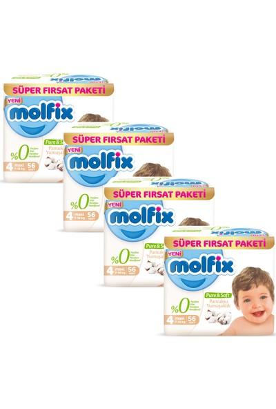 Molfix Pure&Soft 4 Beden Maxi 2 Aylık Fırsat Paketi 224 Adet