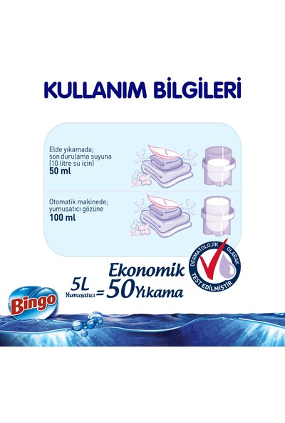 Bingo Soft Çamaşır Yumuşatıcısı Kuzumun Kokusu 5 L Ekonomi Paketi 4'lü