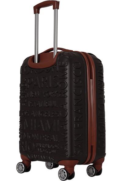 ÇÇS 5167 ABS 2'li Valiz Seti Kahve (Kabin + Orta)