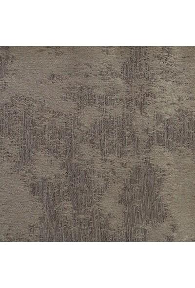 Caserta Home Bulut Desen Koyu Bej V-2 Orta Sıklıkta Pileli Jakar Tek Kanat Fon Perde - ezo 12728